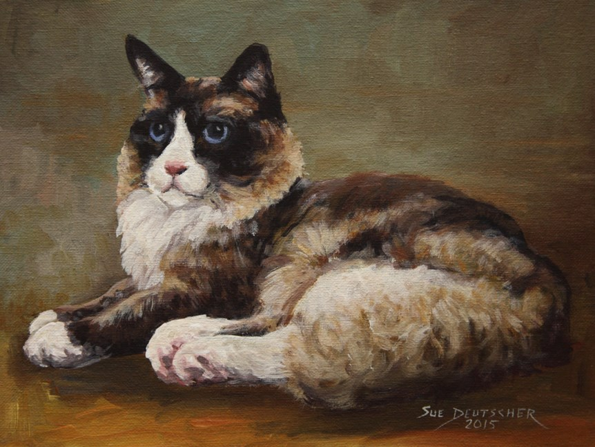 """Cat"" original fine art by Sue Deutscher"
