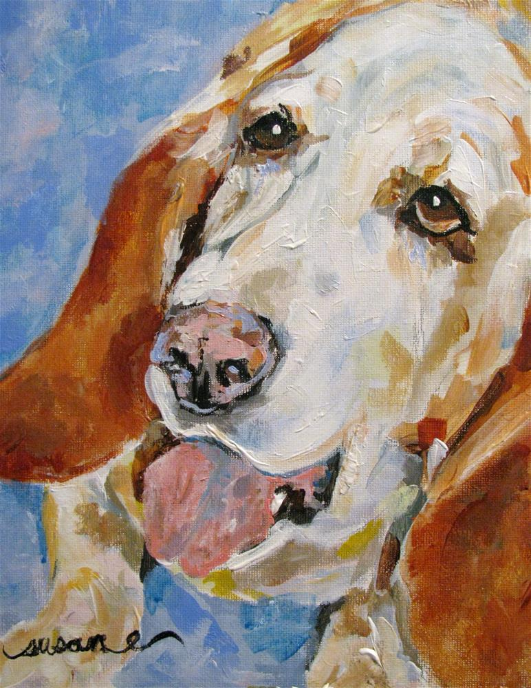 """Smokey"" original fine art by Susan Elizabeth Jones"