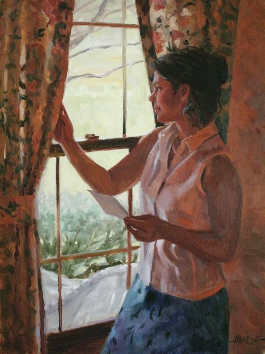 """""""The Letter"""" original fine art by Scott Harding"""