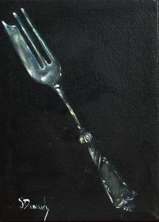 """Oyster Fork"" original fine art by Stephanie Drawdy"