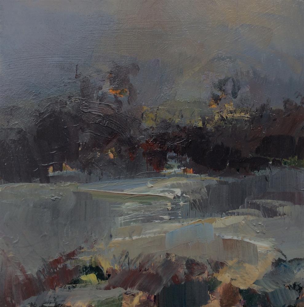 """Ice Pool"" original fine art by Anne Wood"