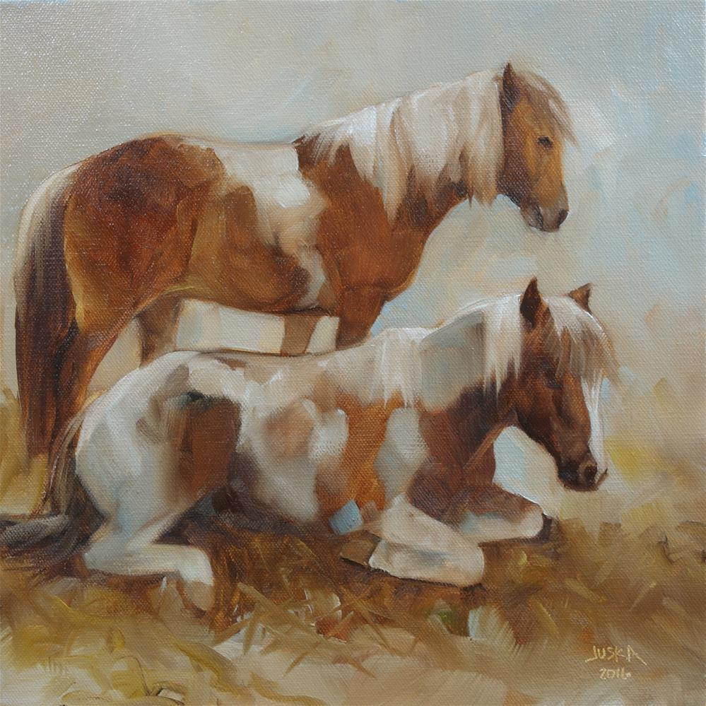 """Sleepy Ponies"" original fine art by Elaine Juska Joseph"