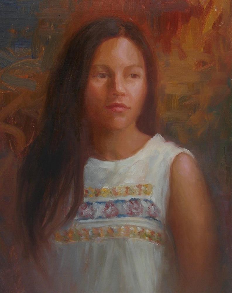 """""""LeAnn"""" original fine art by Sherri Aldawood"""