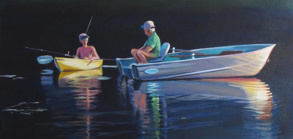 """Two Anglers"" original fine art by Susan Suraci"