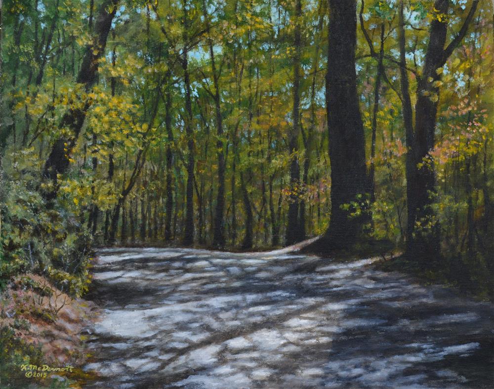 """Afternoon Shadows - Oconee State Park"" original fine art by Kathleen McDermott"