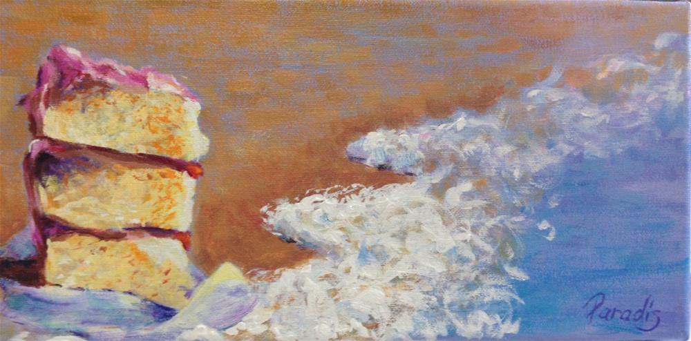 """Someone Left the Cake Out at the Beach"" original fine art by Rita Paradis"