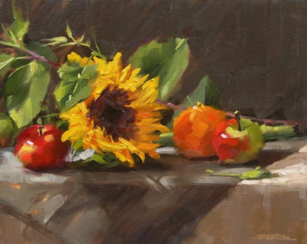 """Small Fruit & Flower"" original fine art by Karen Werner"