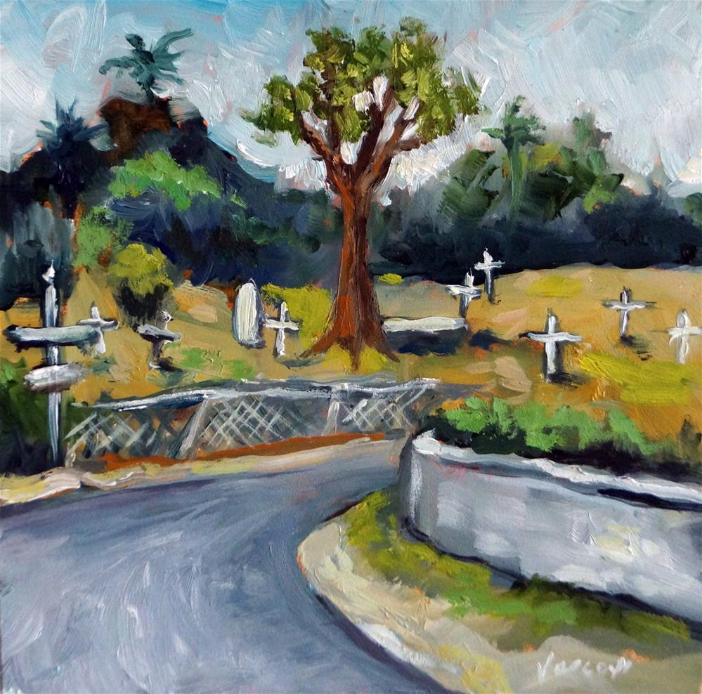 """Cemetary in Bimini"" original fine art by Valerie Vescovi"