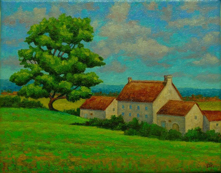 """Inland Brittany, France"" original fine art by Mark  Attard"