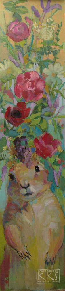 """Prairie Frida, Finished"" original fine art by Kimberly Santini"