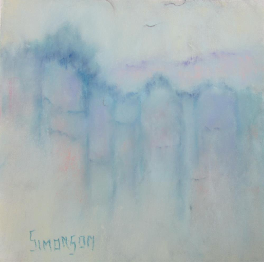 """Blue Canyon Wall"" original fine art by Bev Simonson"