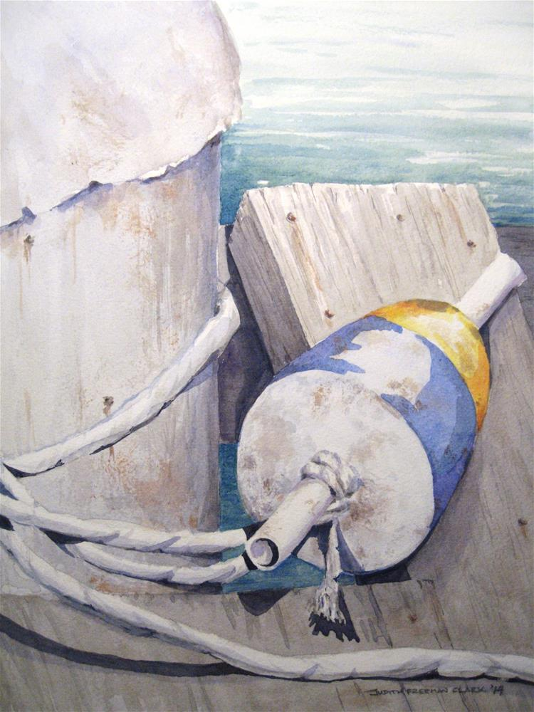 """Lonely Buoy"" original fine art by Judith Freeman Clark"