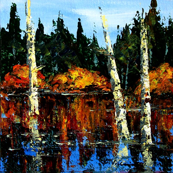 """Late Day Reflections"" original fine art by Anna Vreman"