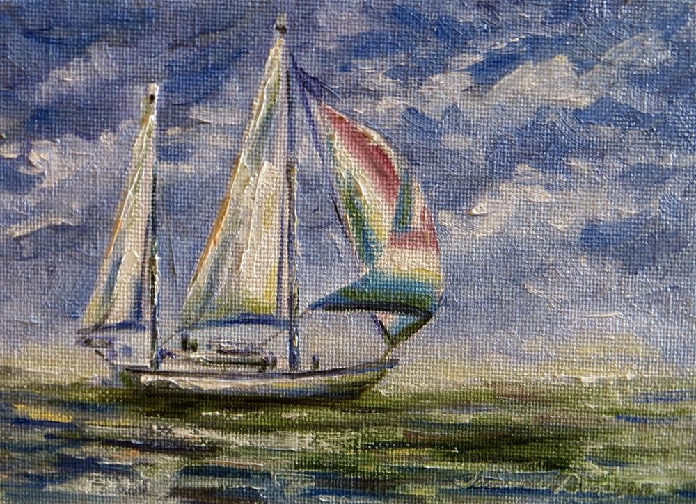 """""""All Sail and No Anchor"""" original fine art by Tammie Dickerson"""