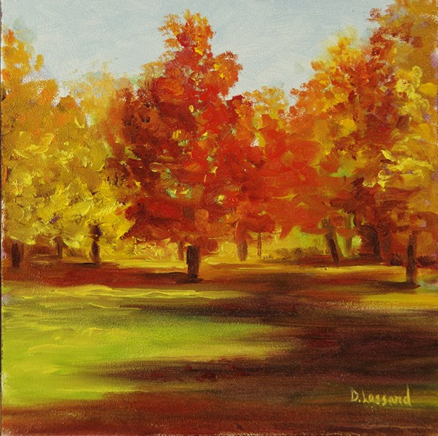 """Fall Colors # 1411"" original fine art by Dee Lessard"