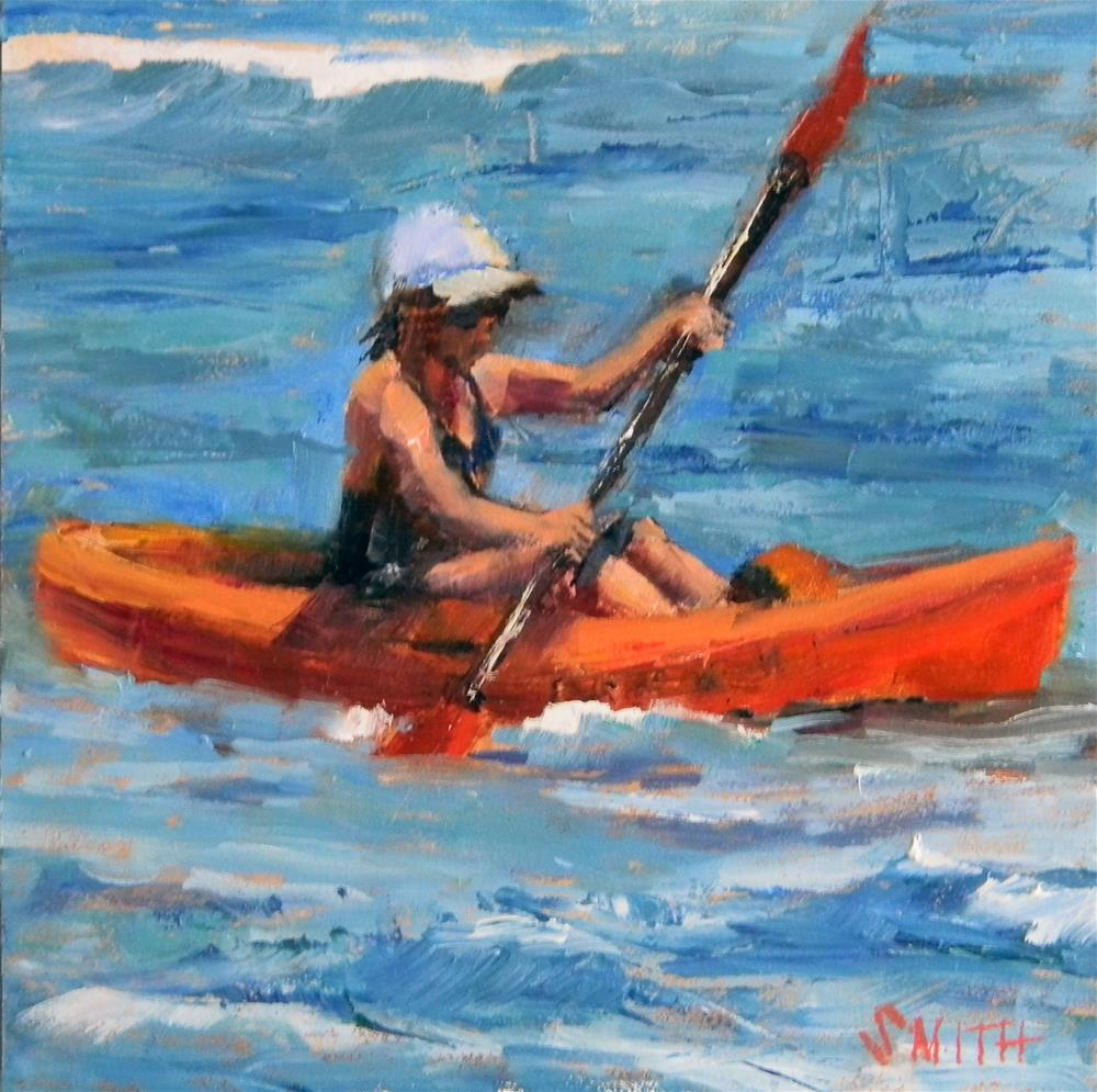 """Kayak Kauai"" original fine art by Barbie Smith"
