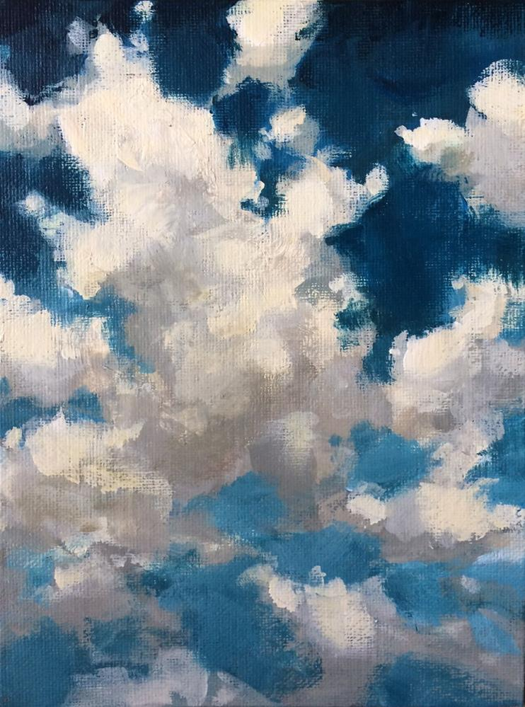 """Cloud Study"" original fine art by Shannon Bauer"