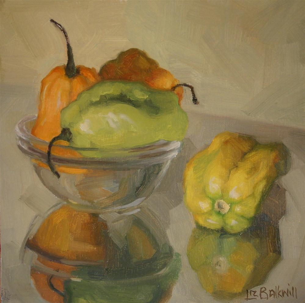 """Scotch Bonnets"" original fine art by Liz Balkwill"