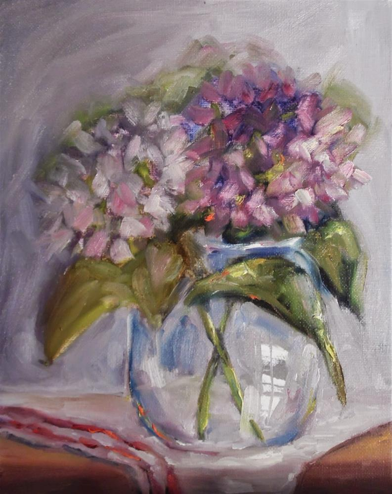 """A Soft Touch of Purple floral still life painting  by Alabama Artist Angela Sullivan"" original fine art by Angela Sullivan"