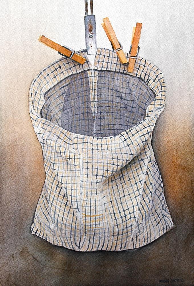 """ CLOTHESPIN BAG "" original fine art by Dwight Smith"