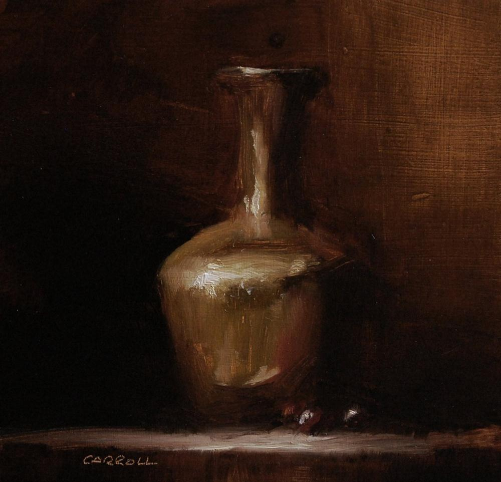 """Copper Vase - Study"" original fine art by Neil Carroll"