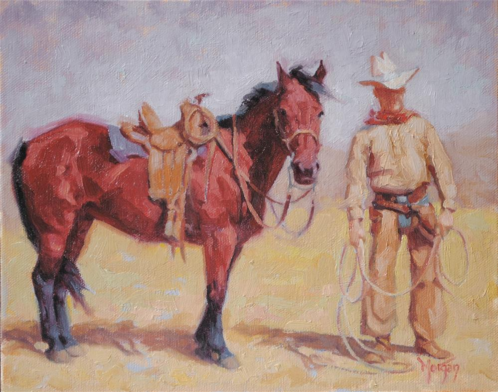 """Wrangler Memories"" original fine art by Cecile W. Morgan"