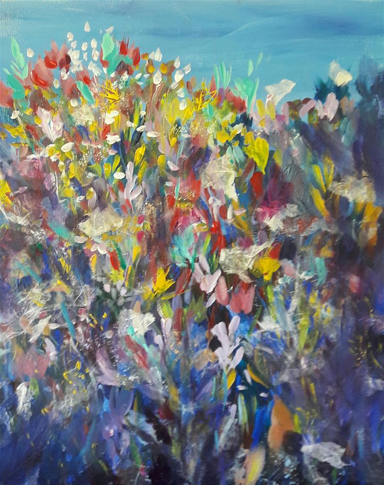 """WILDflowers"" original fine art by Becky Chappell"