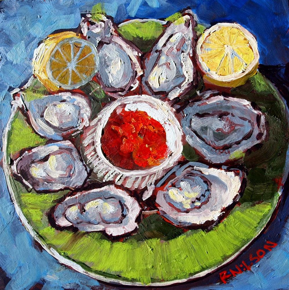 """On The half shell"" original fine art by Rick Nilson"