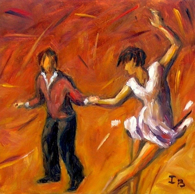 """Swing! - 3"" original fine art by Irina Beskina"