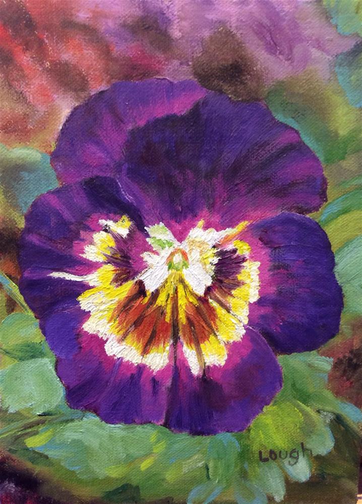 """""""Pretty in Purple"""" original fine art by Charlotte Lough"""
