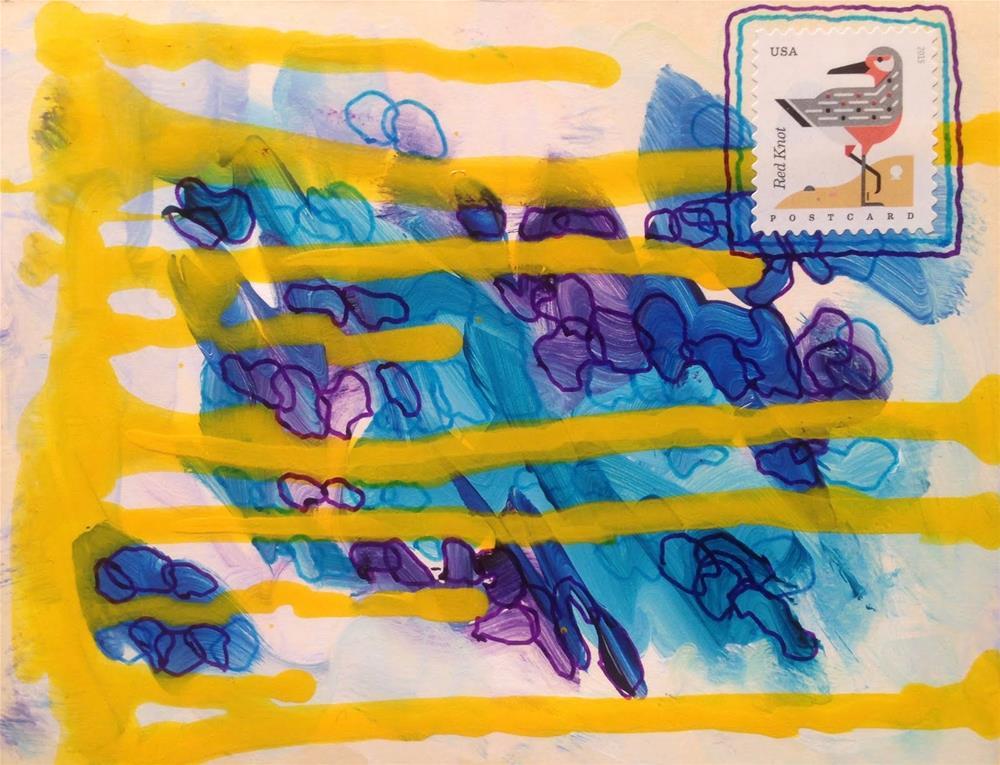 """""""Postcard 3"""" original fine art by Dotty Seiter"""