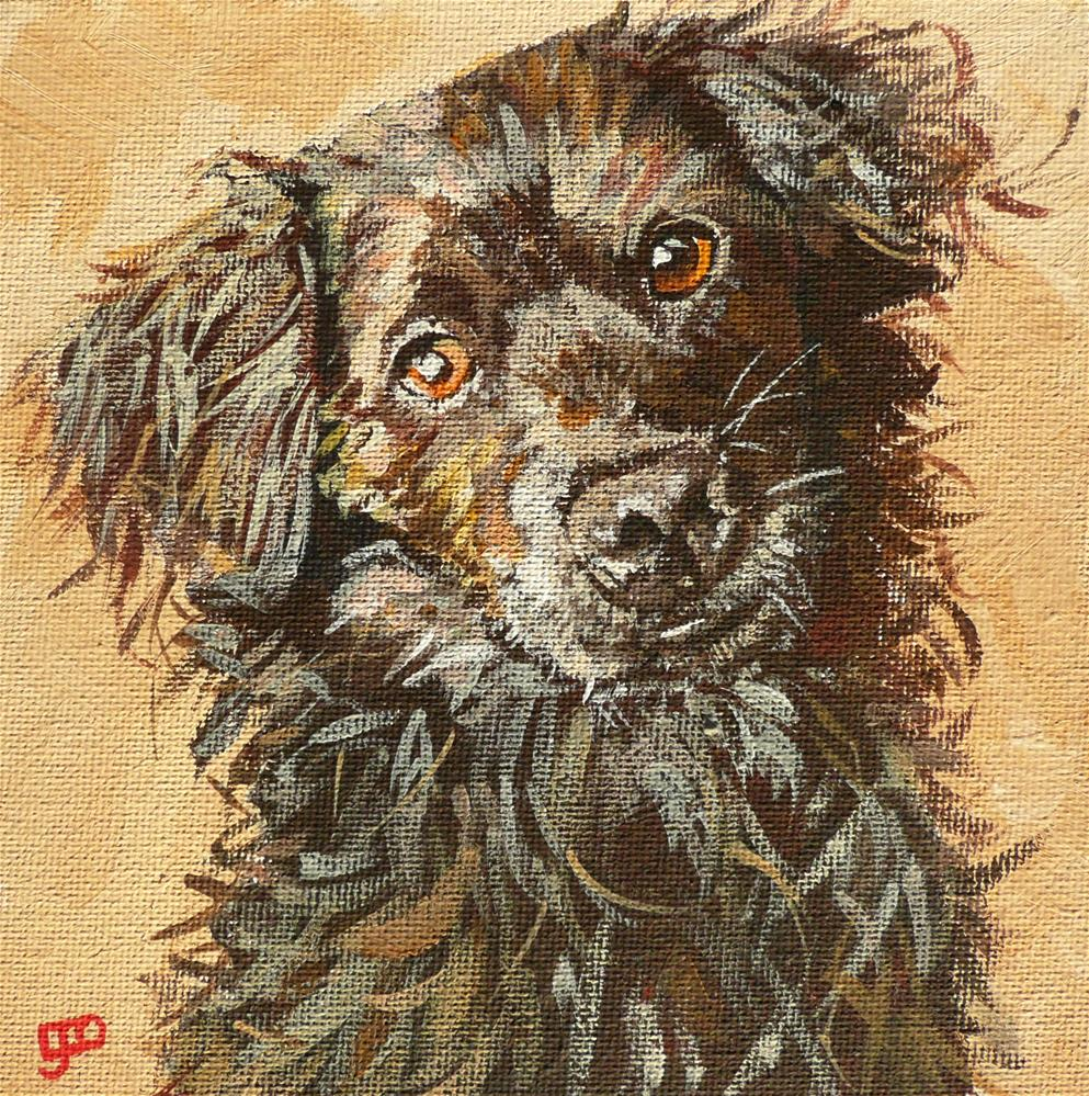 """Best Mate"" original fine art by Leanne Owen"