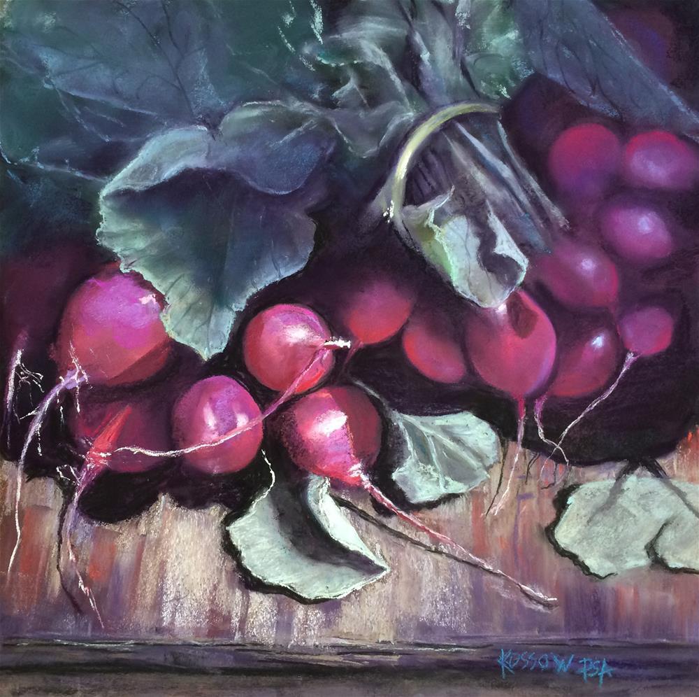 """Day-Glo Radishes"" original fine art by Cristine Kossow"