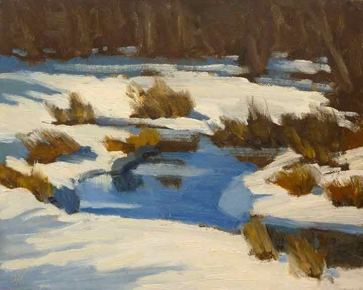 """Icy Brook"" original fine art by Bobbi Heath"
