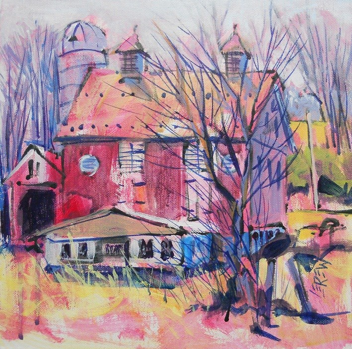 """Plein Air Barn by Larry Lerew 120655"" original fine art by Larry Lerew"