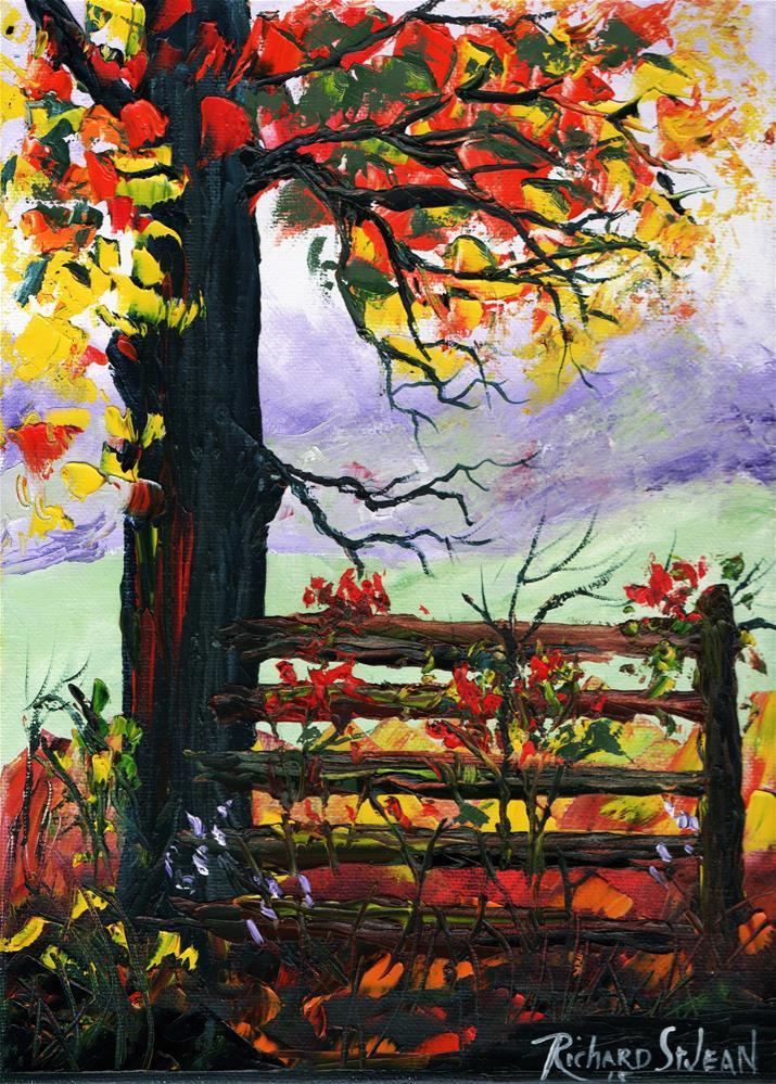 """Autumn Morning"" original fine art by Richard St.Jean"