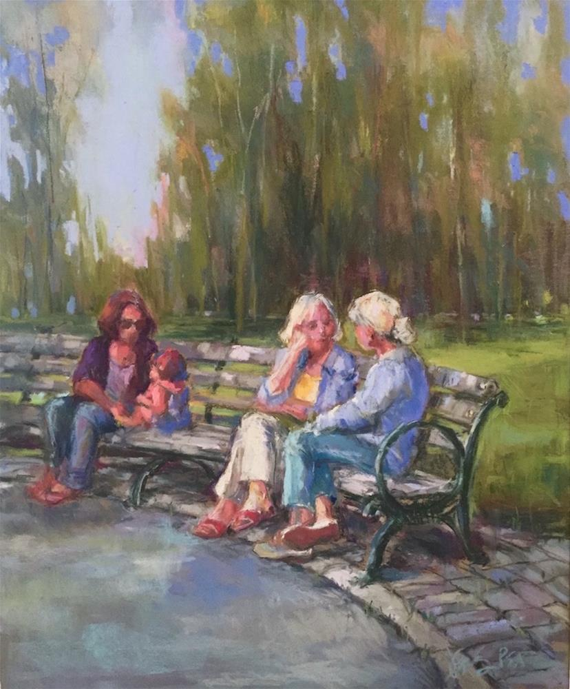 """conversations & cobblestones"" original fine art by jeri greenberg"