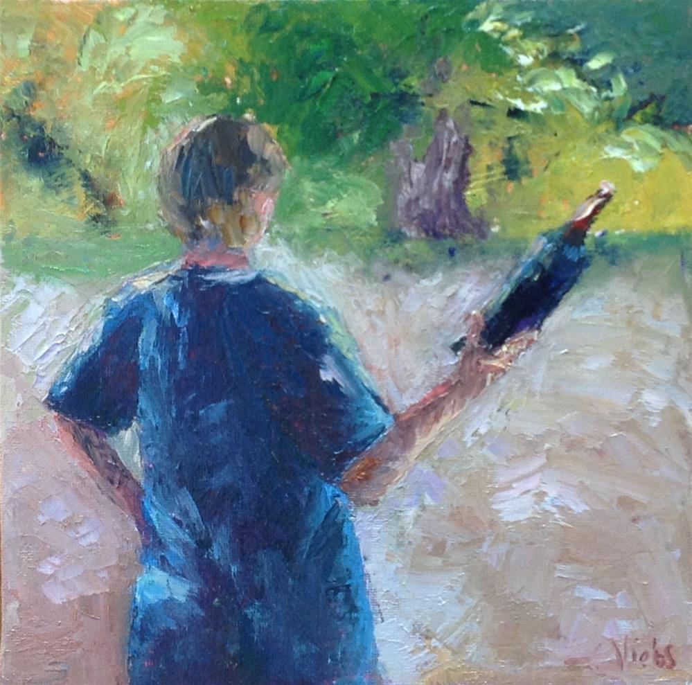 """Wine Anyone?"" original fine art by Helen Viebrock Hamel"