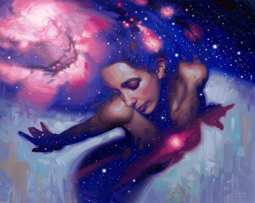 """Dance"" original fine art by Rob  Rey"
