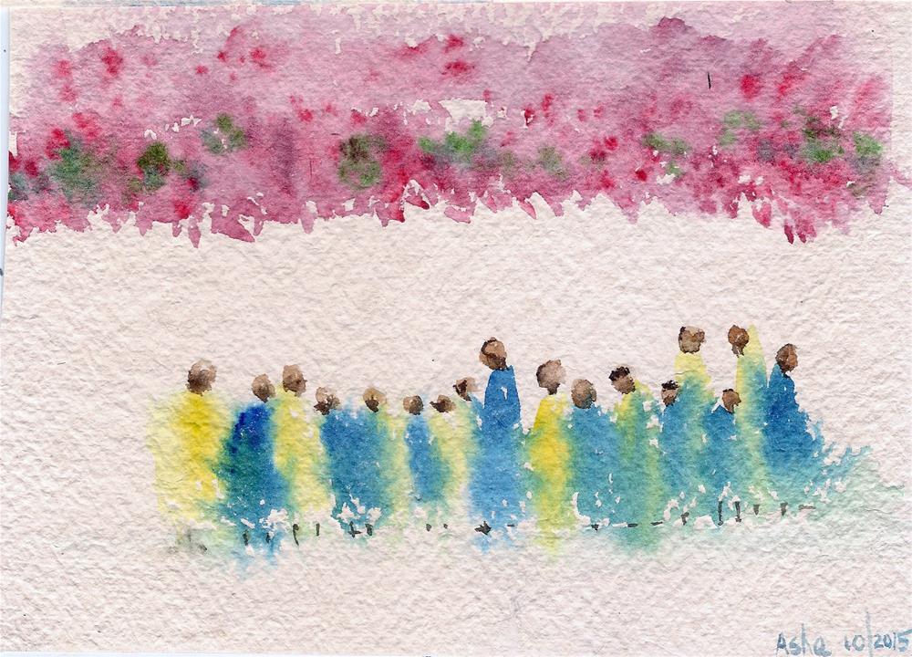 """Under the canopy"" original fine art by Asha Shenoy S"