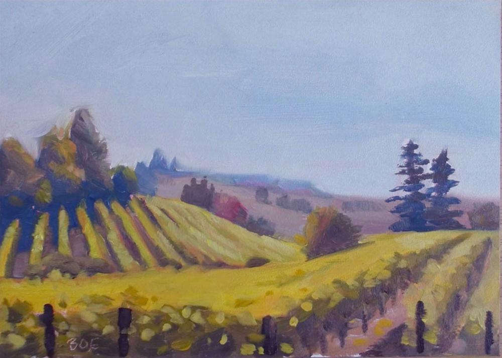 """Vineyard"" original fine art by Karen Boe"