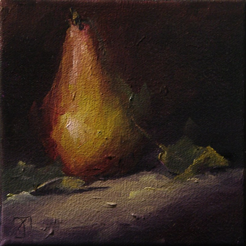 """Pear 6 Ovation"" original fine art by Lori Twiggs"