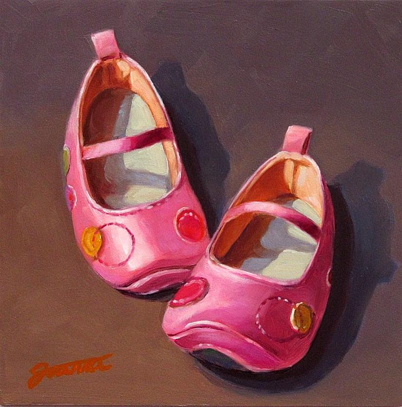 """Polka-Dot Steps"" original fine art by Joanna Bingham"