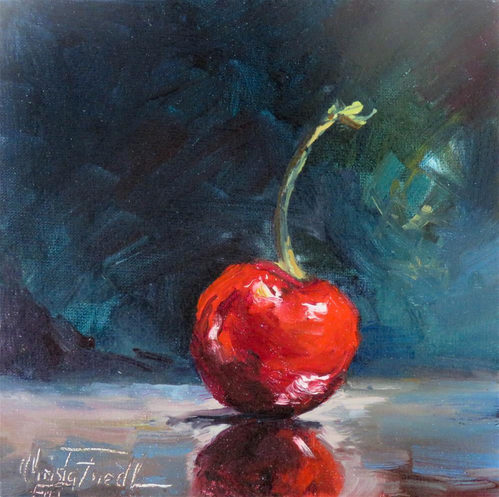 """One last Cherry"" original fine art by Christa Friedl"