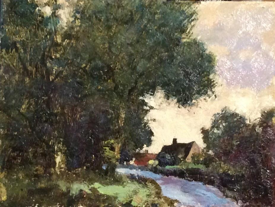 """Down The Lane"" original fine art by John Shave"