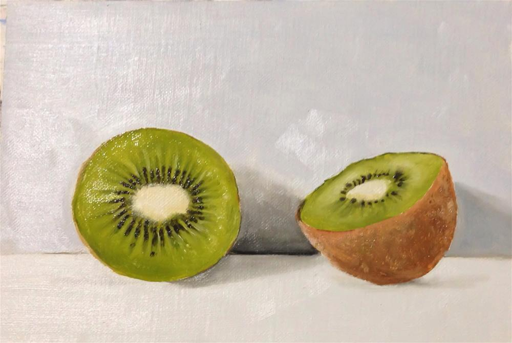 """Kiwi"" original fine art by James Coates"