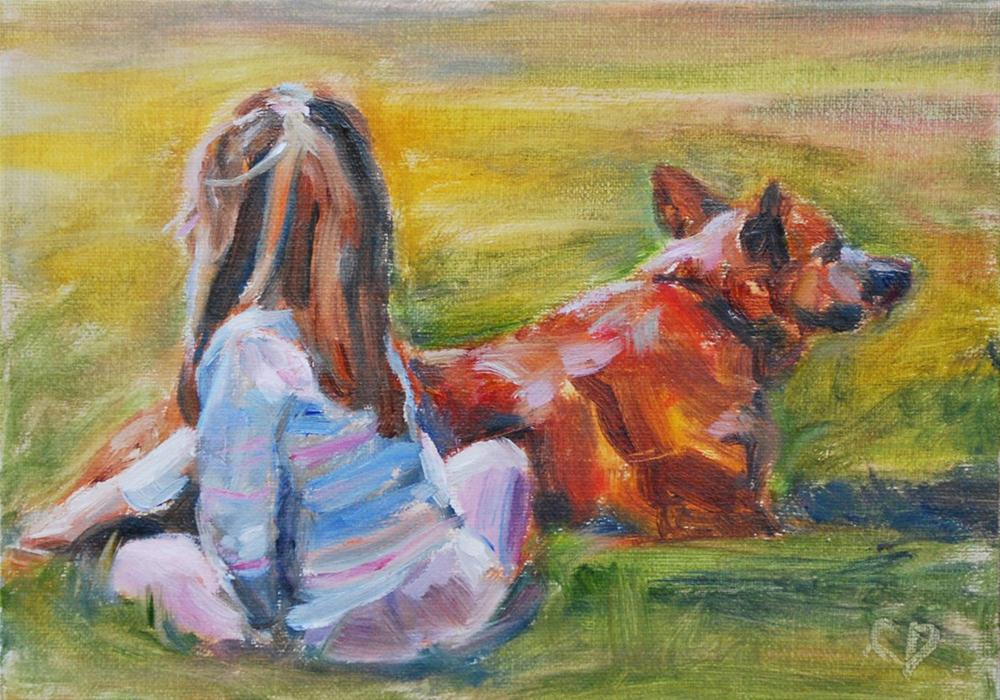 """""""Besties"""" original fine art by Carol DeMumbrum"""