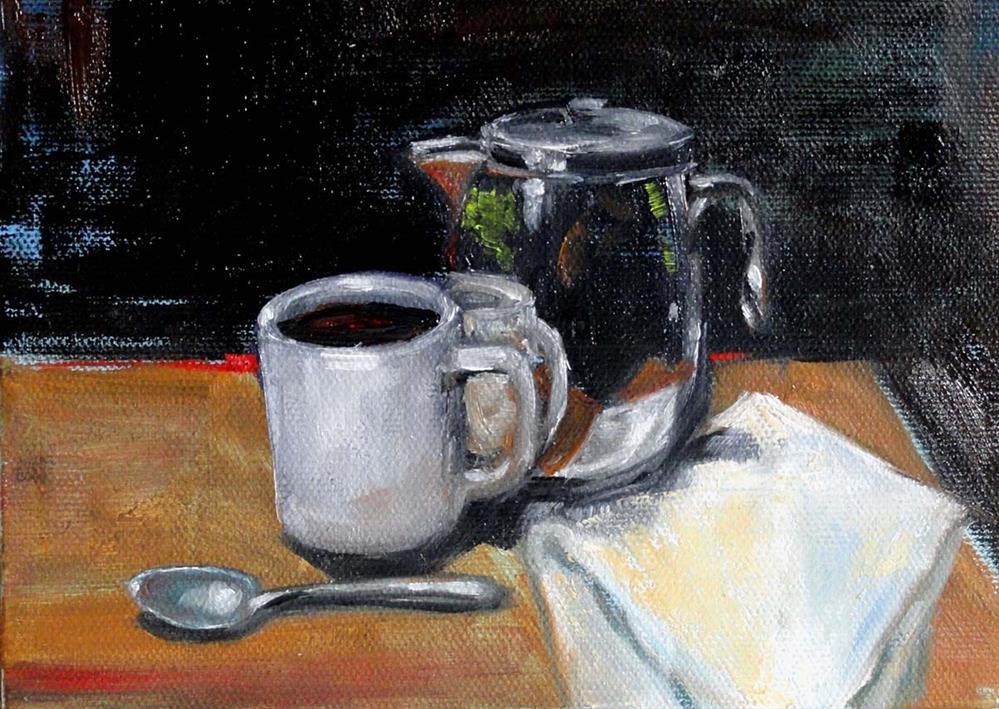 """""""Coffee Break"""" original fine art by Cietha Wilson"""