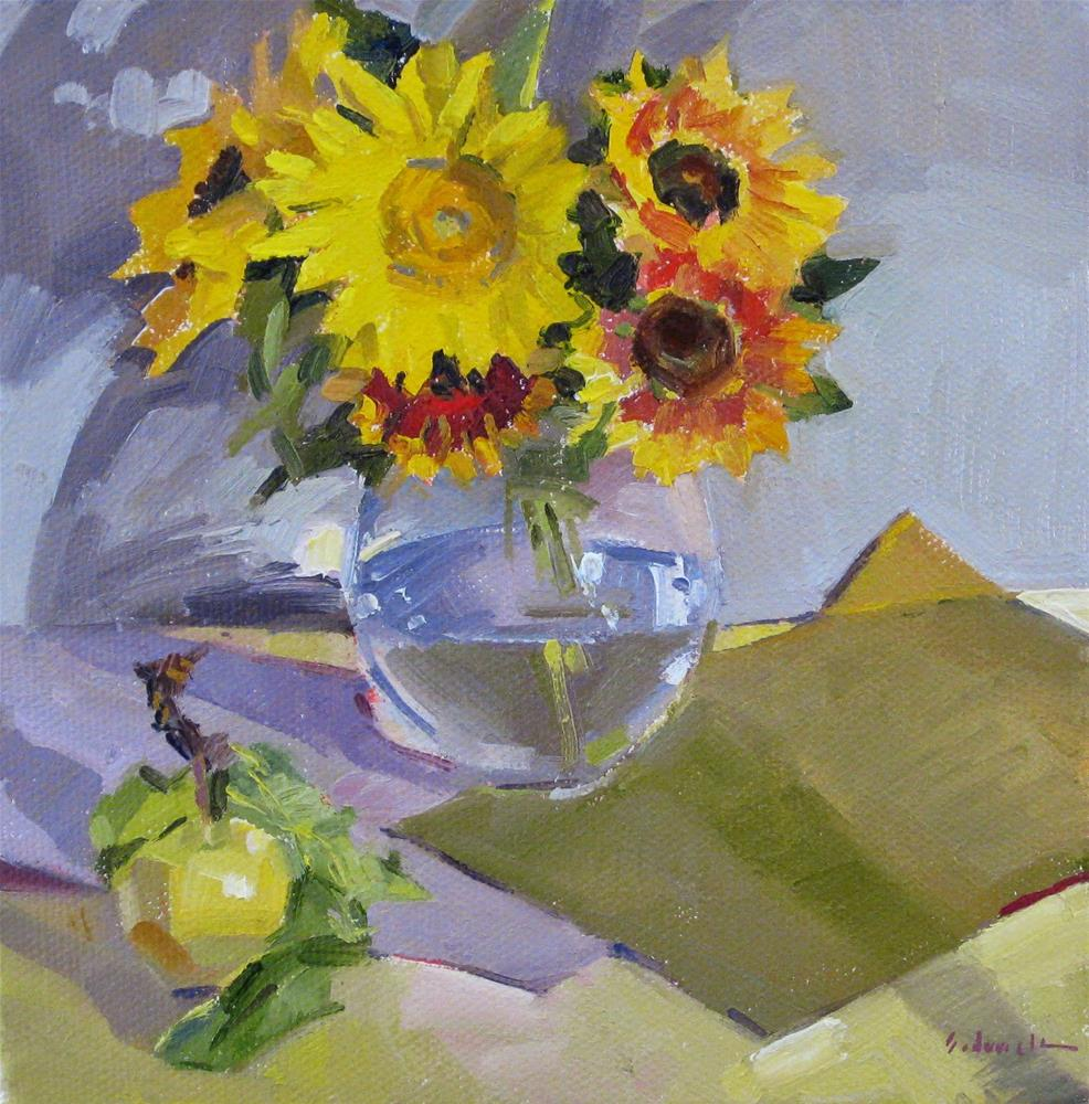 """One Dollar Auction Week: A Sunny Mix"" original fine art by Sarah Sedwick"