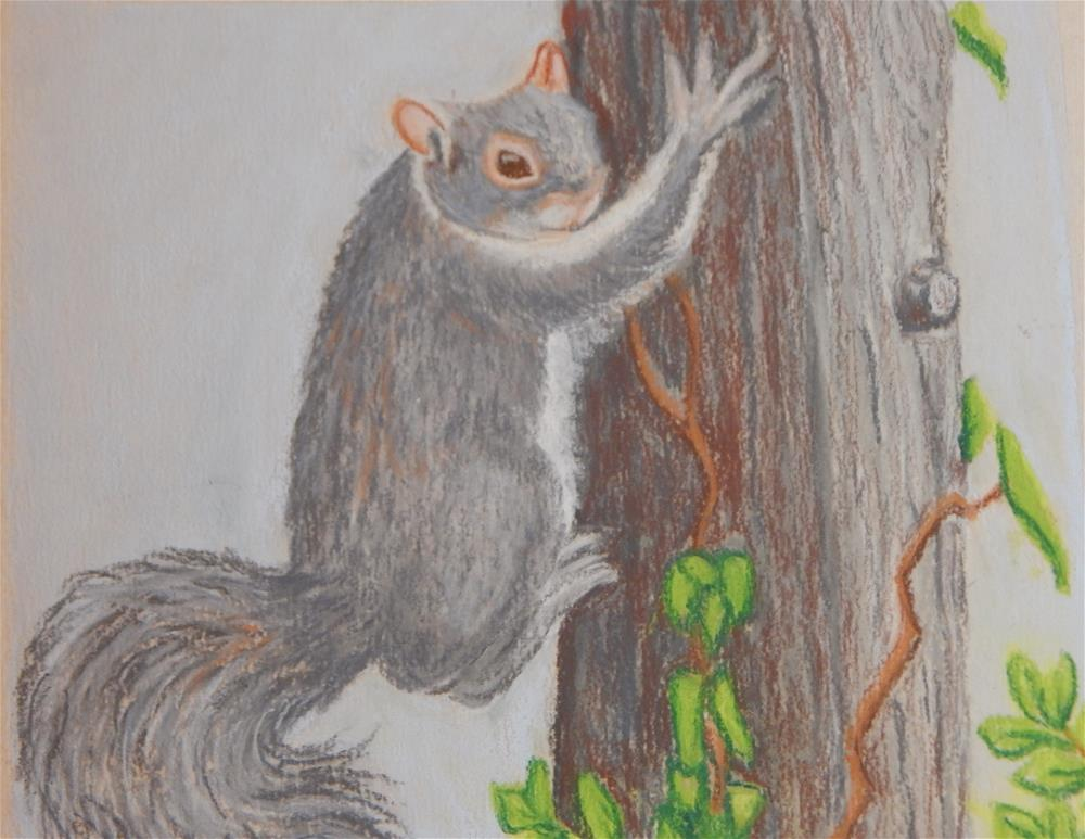 """Squirrel at Play"" original fine art by Elaine Shortall"